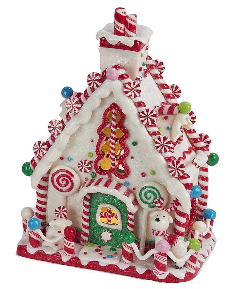 Christmas Candy House  CHRISTMAS DECORATIONS LED LIGHTED PEPPERMINT CANDY