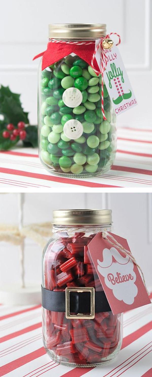 Christmas Candy Jar Ideas  25 Cool DIY Mason Jar Christmas Ideas