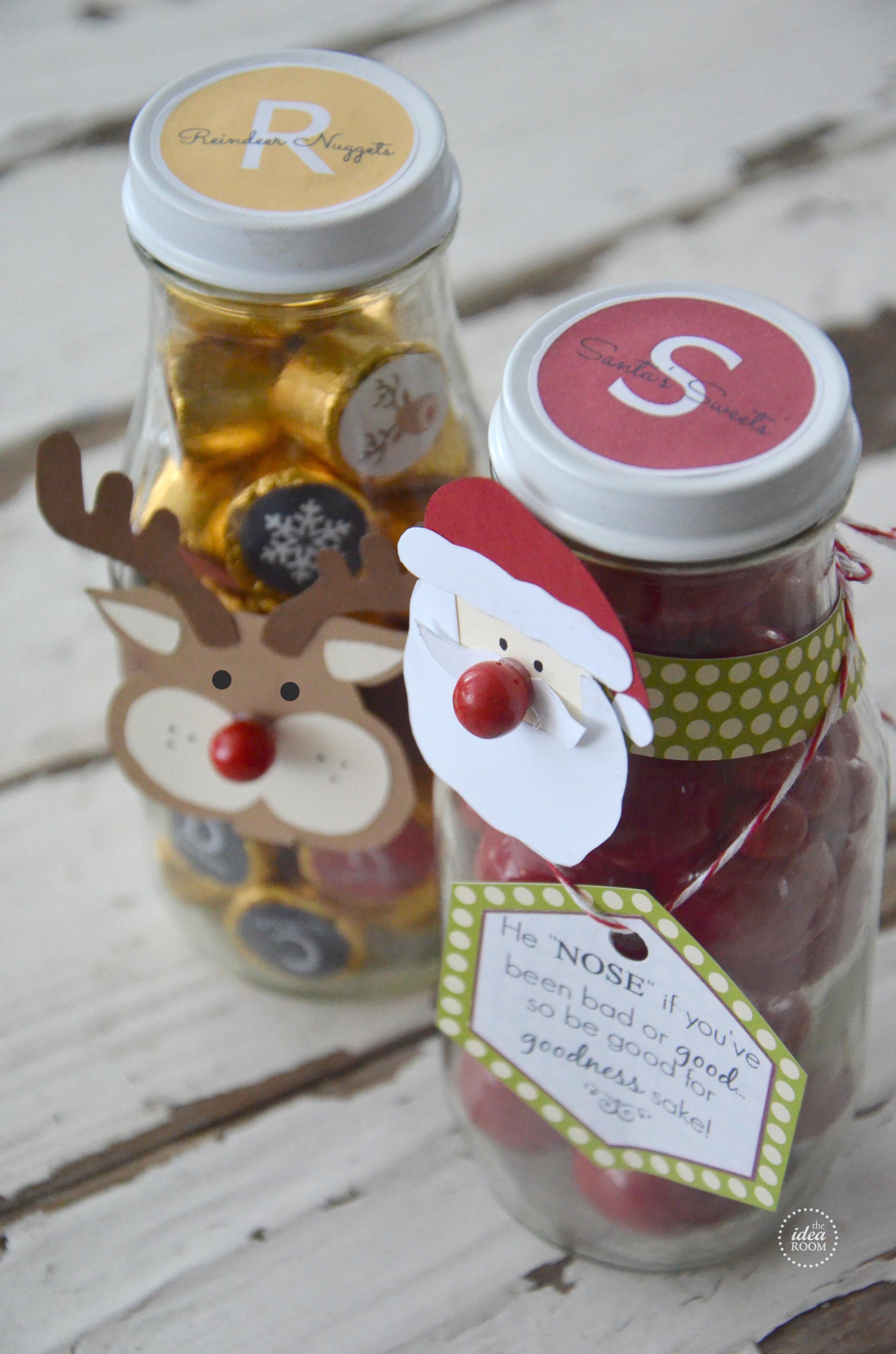 Christmas Candy Jar Ideas  Christmas Candy Gift The Idea Room