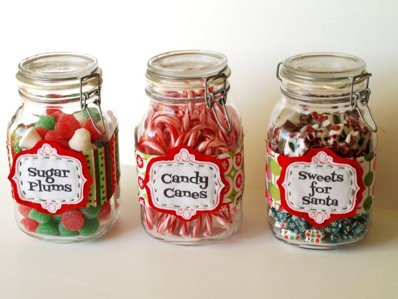 Christmas Candy Jar Ideas  Christmas Candy Jar Labels