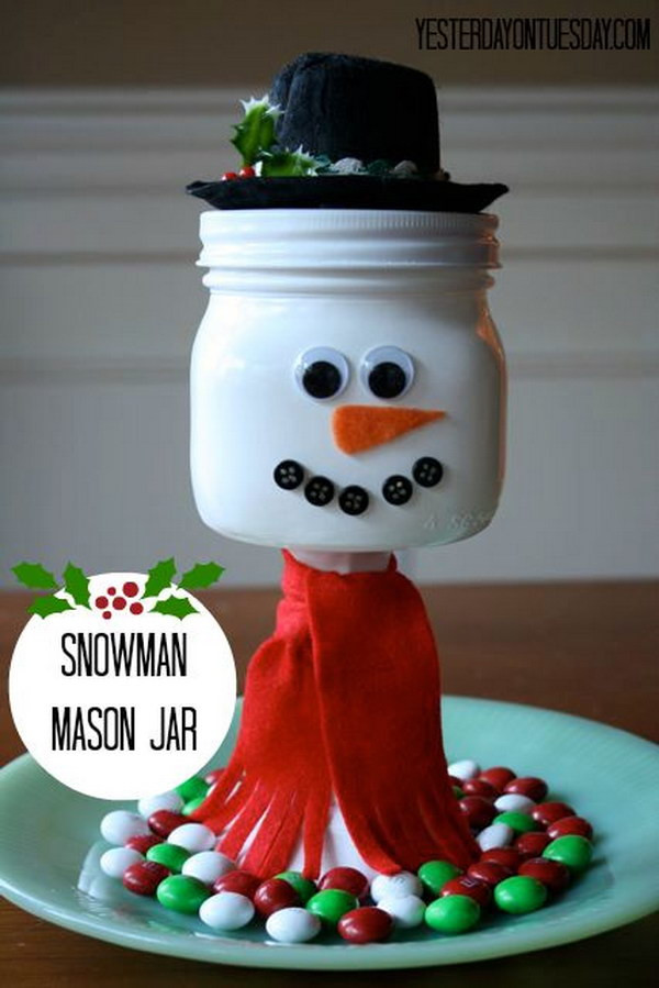 Christmas Candy Jar Ideas  40 DIY Mason Jar Ideas & Tutorials for Holiday
