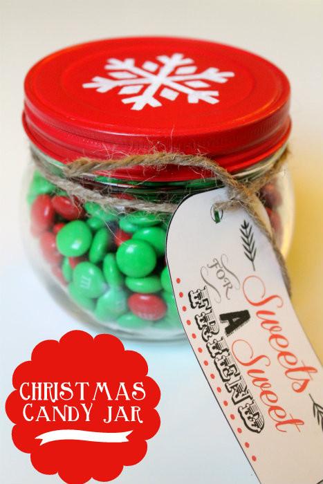 Christmas Candy Jar Ideas  Cupcake Gift Jar