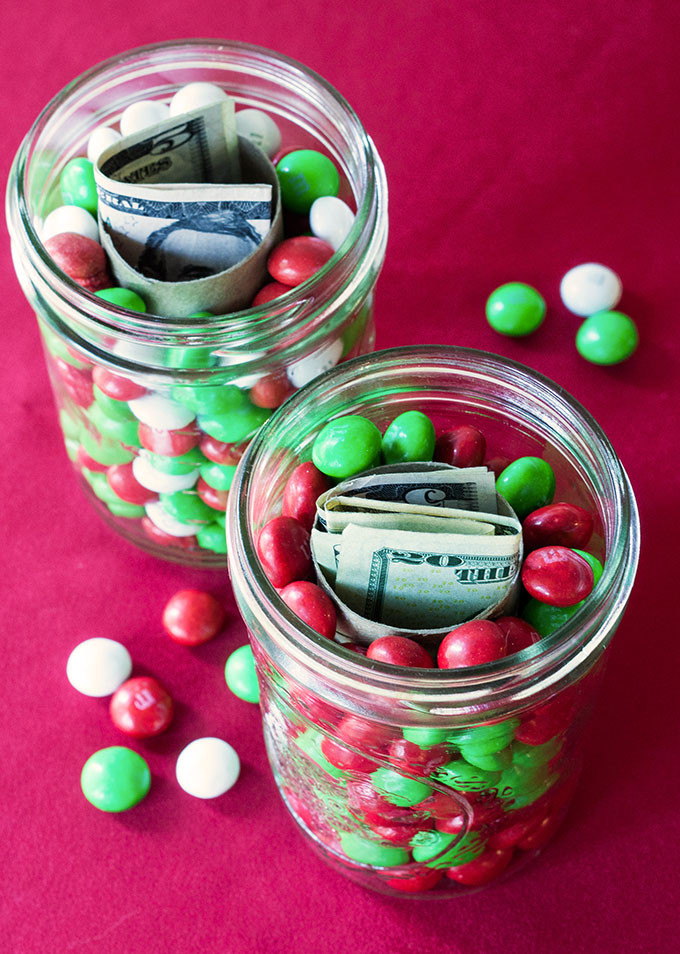 Christmas Candy Jar Ideas  Holiday Gift Idea Hidden Money Candy Jars Evermine Blog