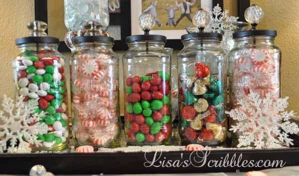 Christmas Candy Jar Ideas  DIY Christmas Candy Jars