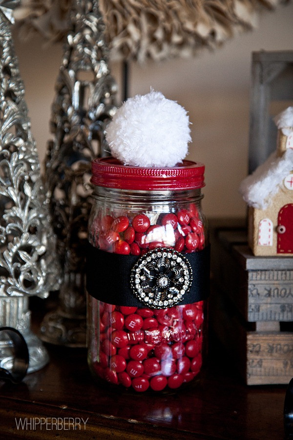Christmas Candy Jar Ideas  Santa Candy Jar with Styled by Tori Spelling • Whipperberry