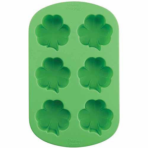 Christmas Candy Molds Walmart  Wilton Silicone Baking Mold Shamrock Party