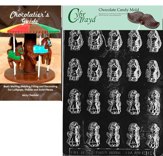 Christmas Candy Molds Walmart  Cybrtrayd Bite Size Mr and Mrs Claus Christmas Chocolate