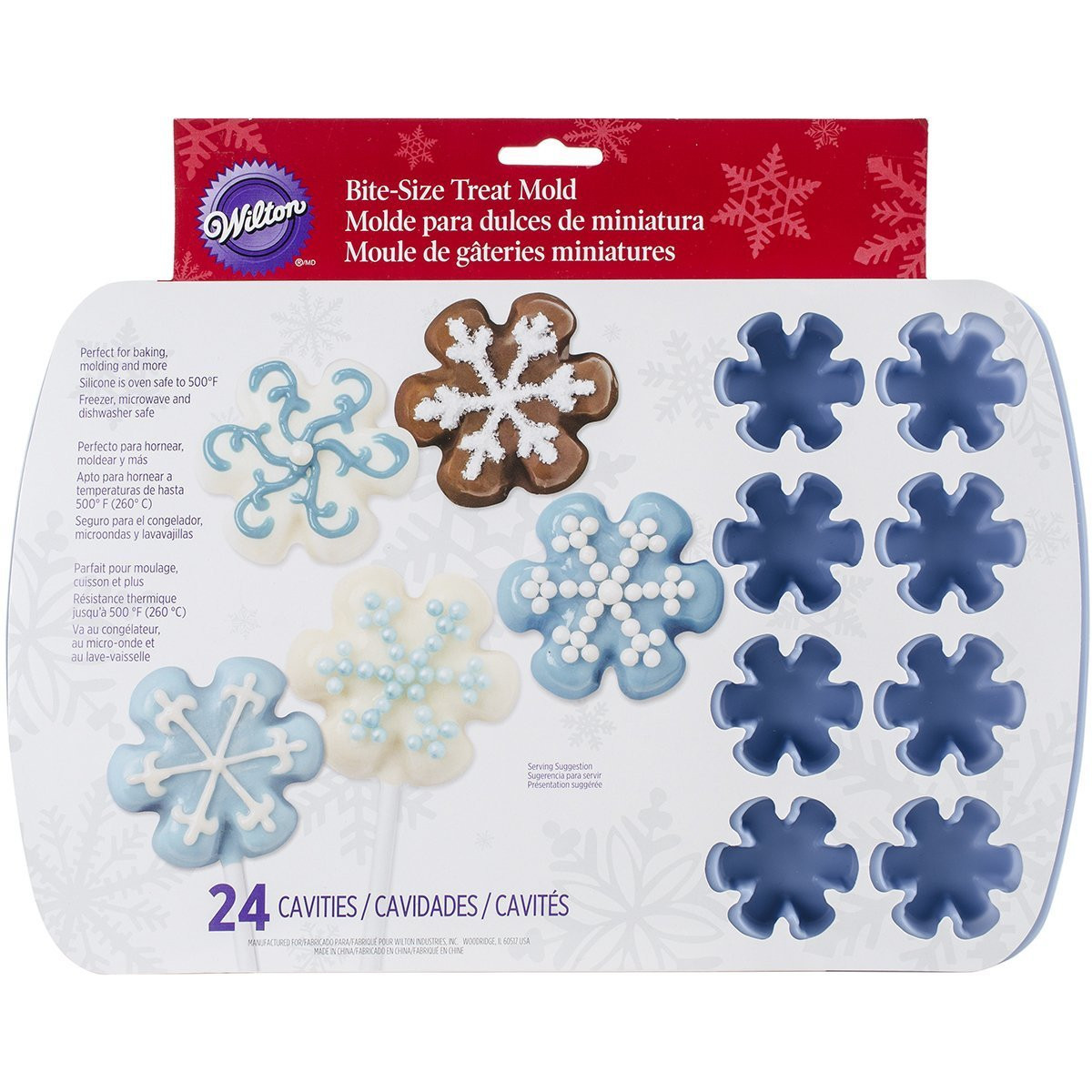 Christmas Candy Molds Walmart  Wilton Easy Flex 24 Cavity Silicone Baking Molds 5