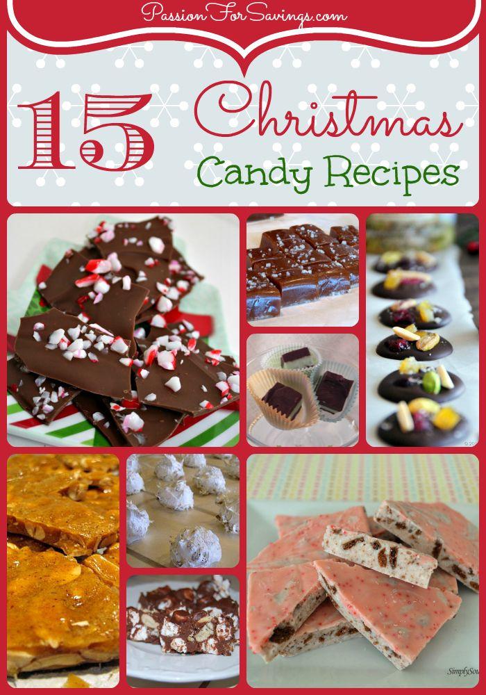 Christmas Candy Recipes Pinterest  I've rounded up 15 new Christmas Candy Recipes that you'll