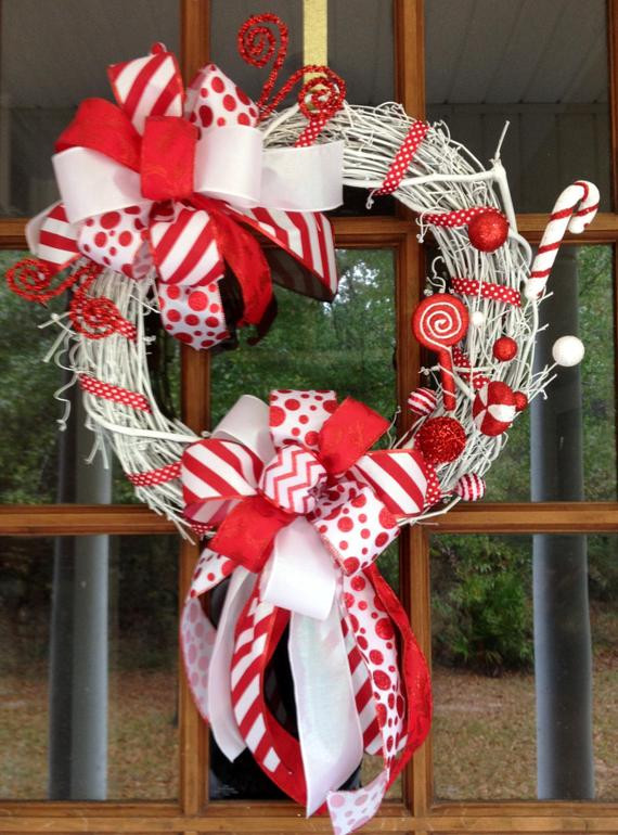 Christmas Candy Sales  ON SALE Christmas Candy Home Decor Red by