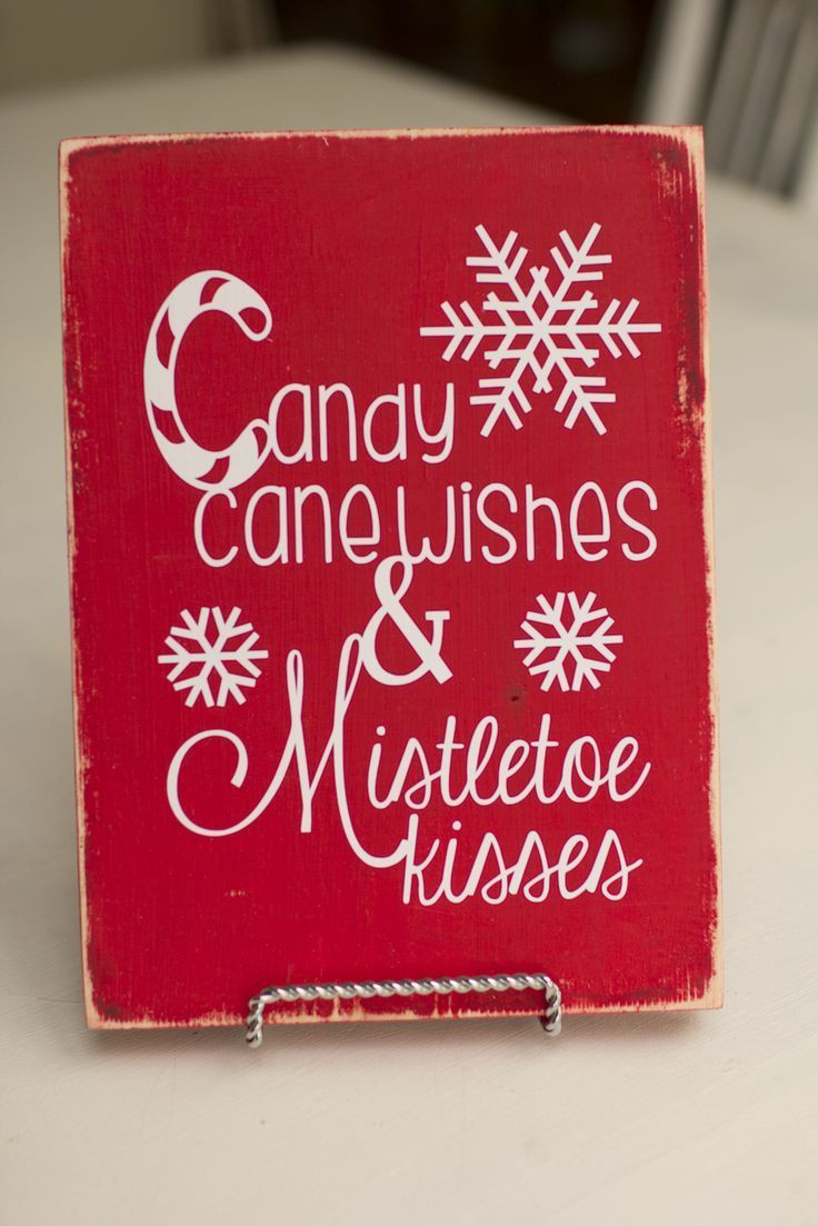 Christmas Candy Sayings  Candy Cane wishes Christmas Sign Christmas