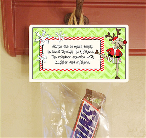"""Christmas Candy Sayings  Christmas Party Favors Candy Sayings """"Santa s Knickers"""