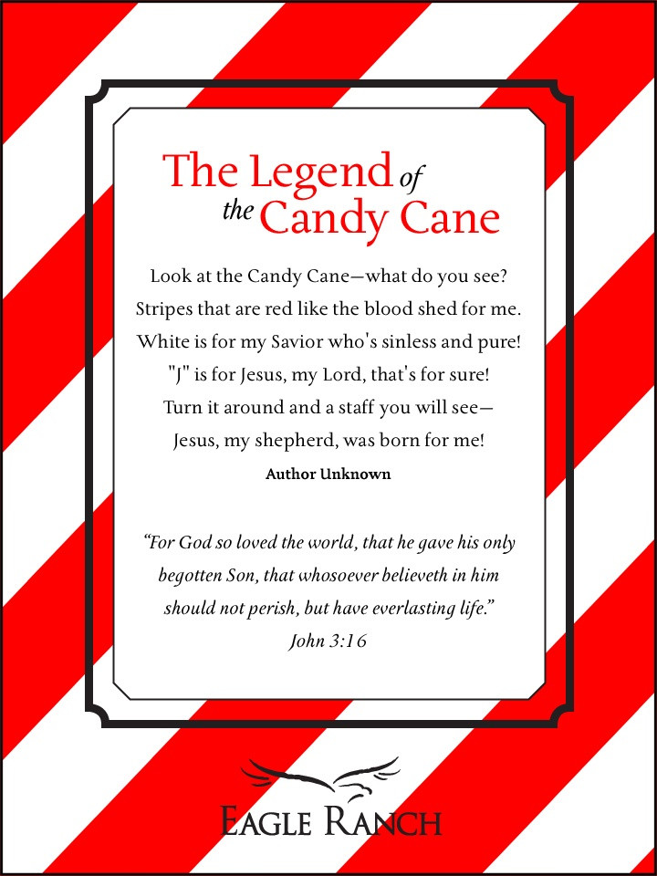 Christmas Candy Sayings  Legend of the Candy Cane Quote Christmas CandyCane