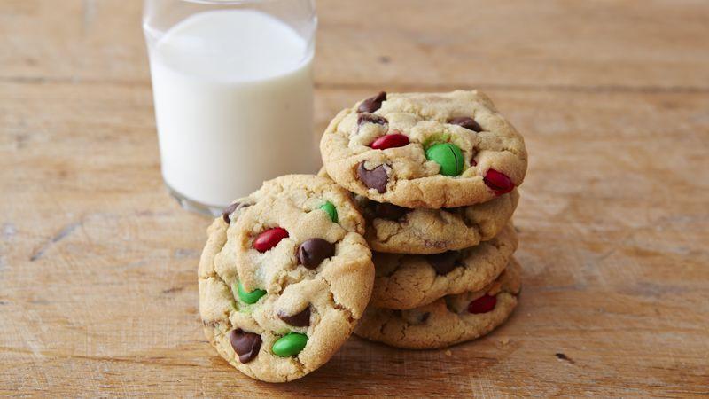 Christmas Choc Chip Cookies  Chocolate Chip M&Ms™ Christmas Cookies Recipe