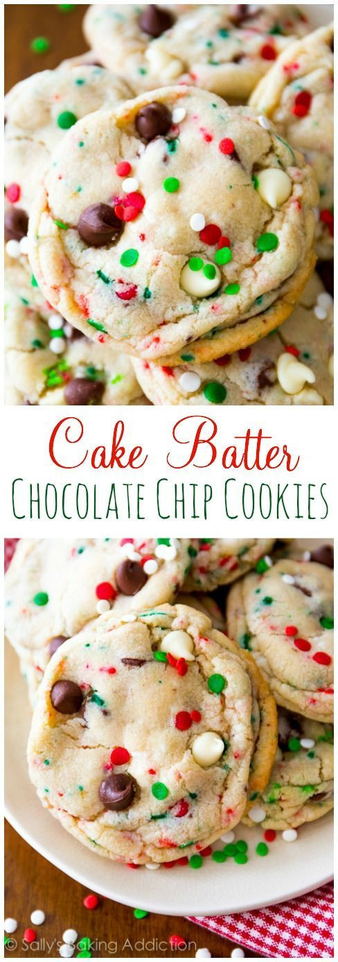 Christmas Choc Chip Cookies  17 Best ideas about Holiday Cookies on Pinterest