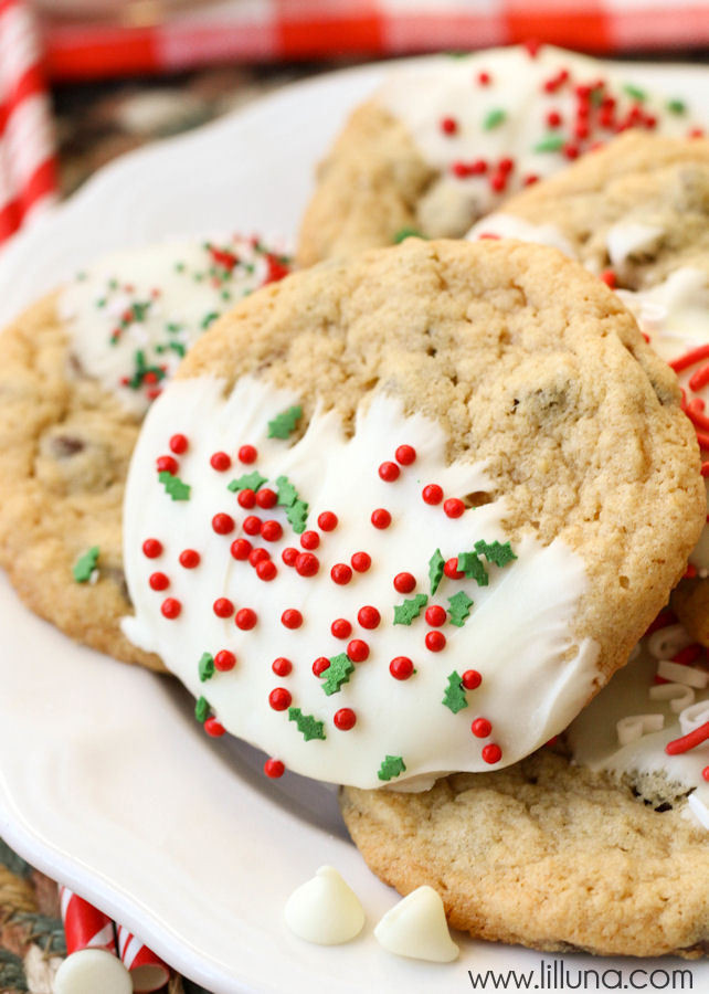Christmas Choc Chip Cookies  Chocolate Chip Christmas Cookies