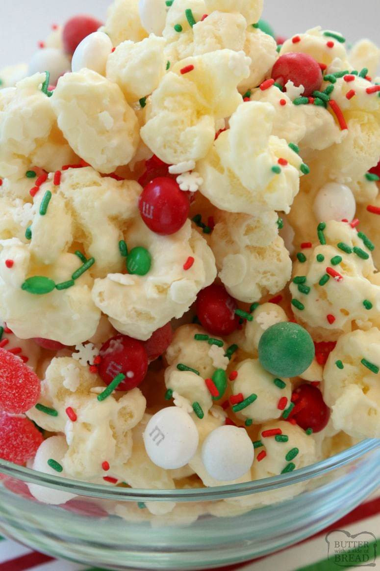 Christmas Chocolate Candy  CHRISTMAS CANDY PUFFCORN Butter with a Side of Bread