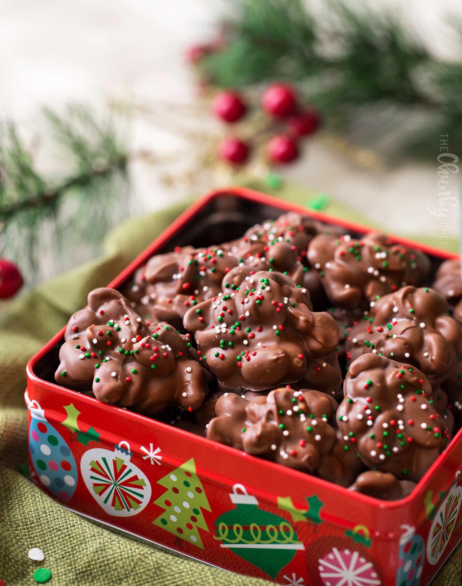 Christmas Chocolate Candy  Easy Christmas Crockpot Candy The Chunky Chef