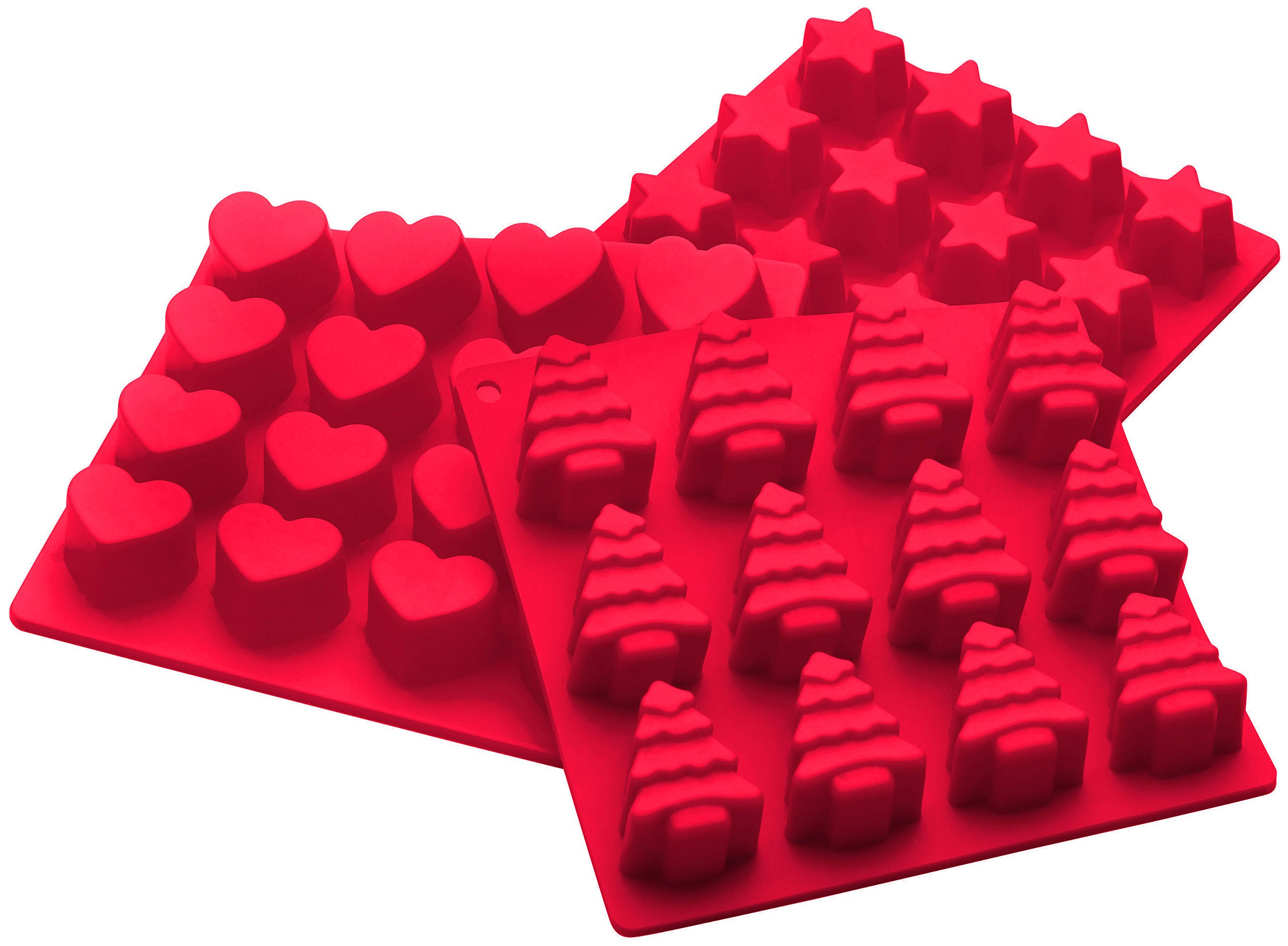 Christmas Chocolate Candy Molds  StarPack Premium Silicone Holiday Candy Molds 3 Pack