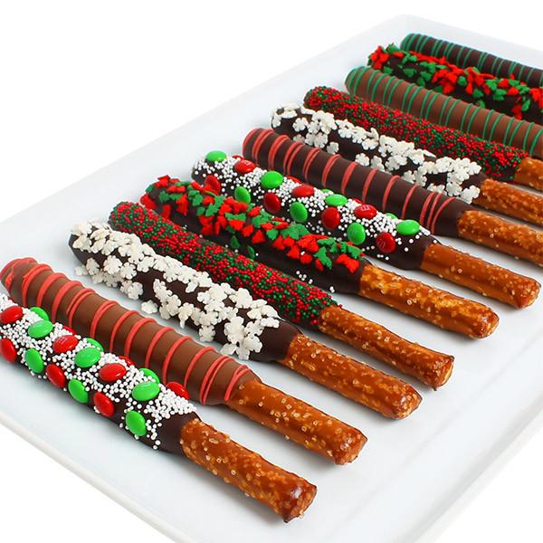 Christmas Chocolate Covered Pretzels  Christmas Pretzels by GourmetGiftBaskets