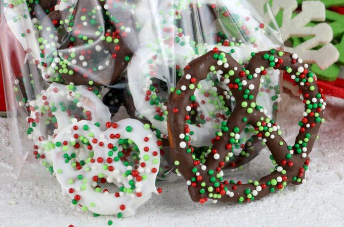 Christmas Chocolate Covered Pretzels  Homemade Chocolate Covered Pretzels Two Sisters