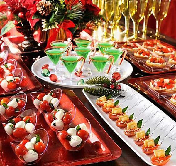 Christmas Cocktail Party Appetizers  90 best images about Appetizer table displays on Pinterest