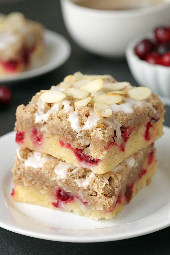 Christmas Coffee Cakes Recipes  Coffee Cake Cranberry Bars