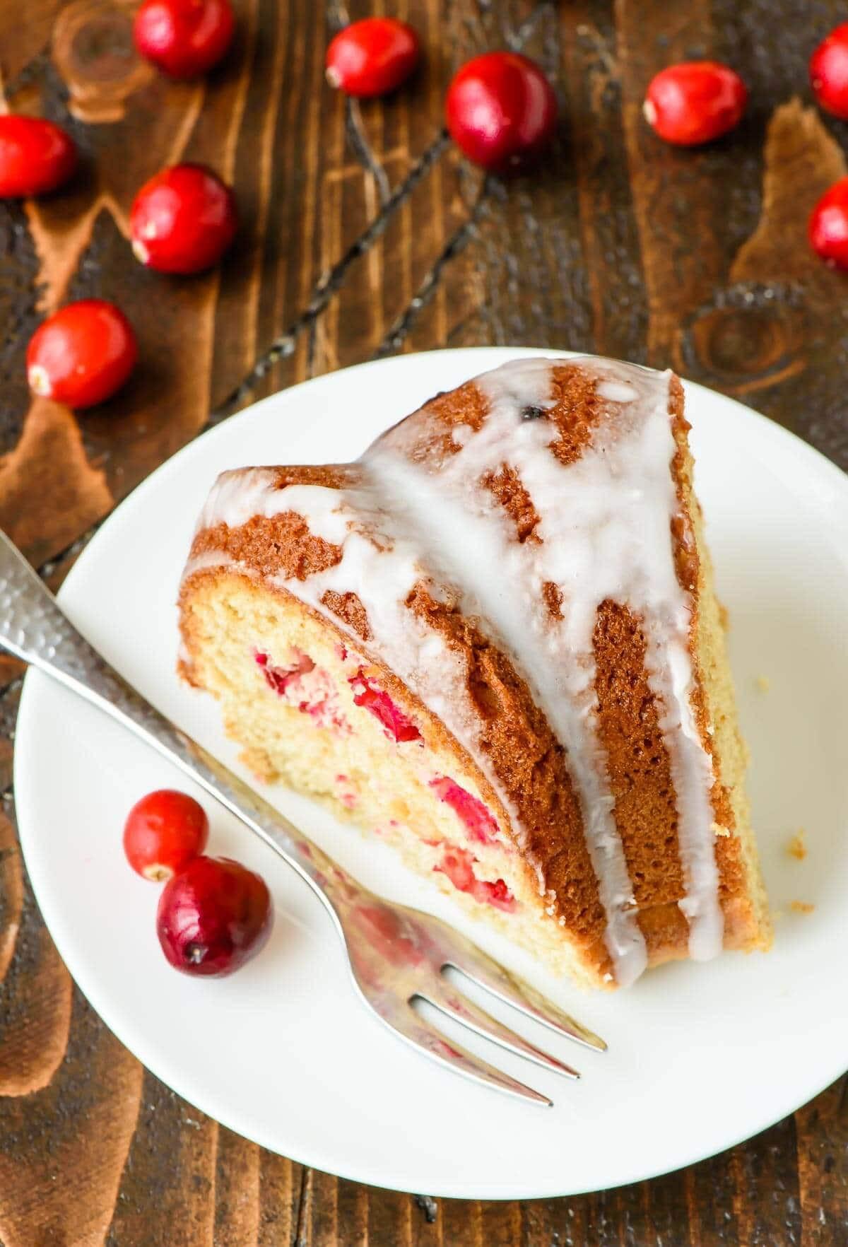 Christmas Coffee Cakes Recipes  Cranberry Sour Cream Coffee Cake