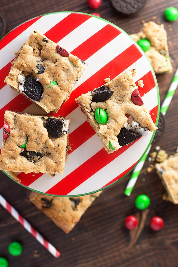 Christmas Cookies Bar  Peanut Butter Oreo Christmas Cookie Bars — Buns In My Oven
