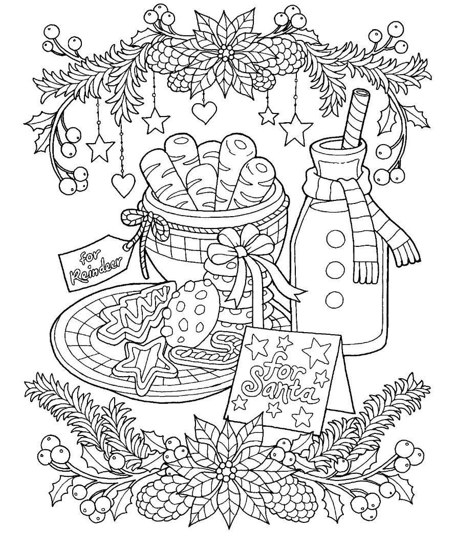 Christmas Cookies Coloring Pages  12 Christmas Drawing Download TY