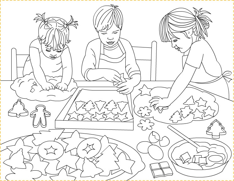Christmas Cookies Coloring Pages  Children's MInistry