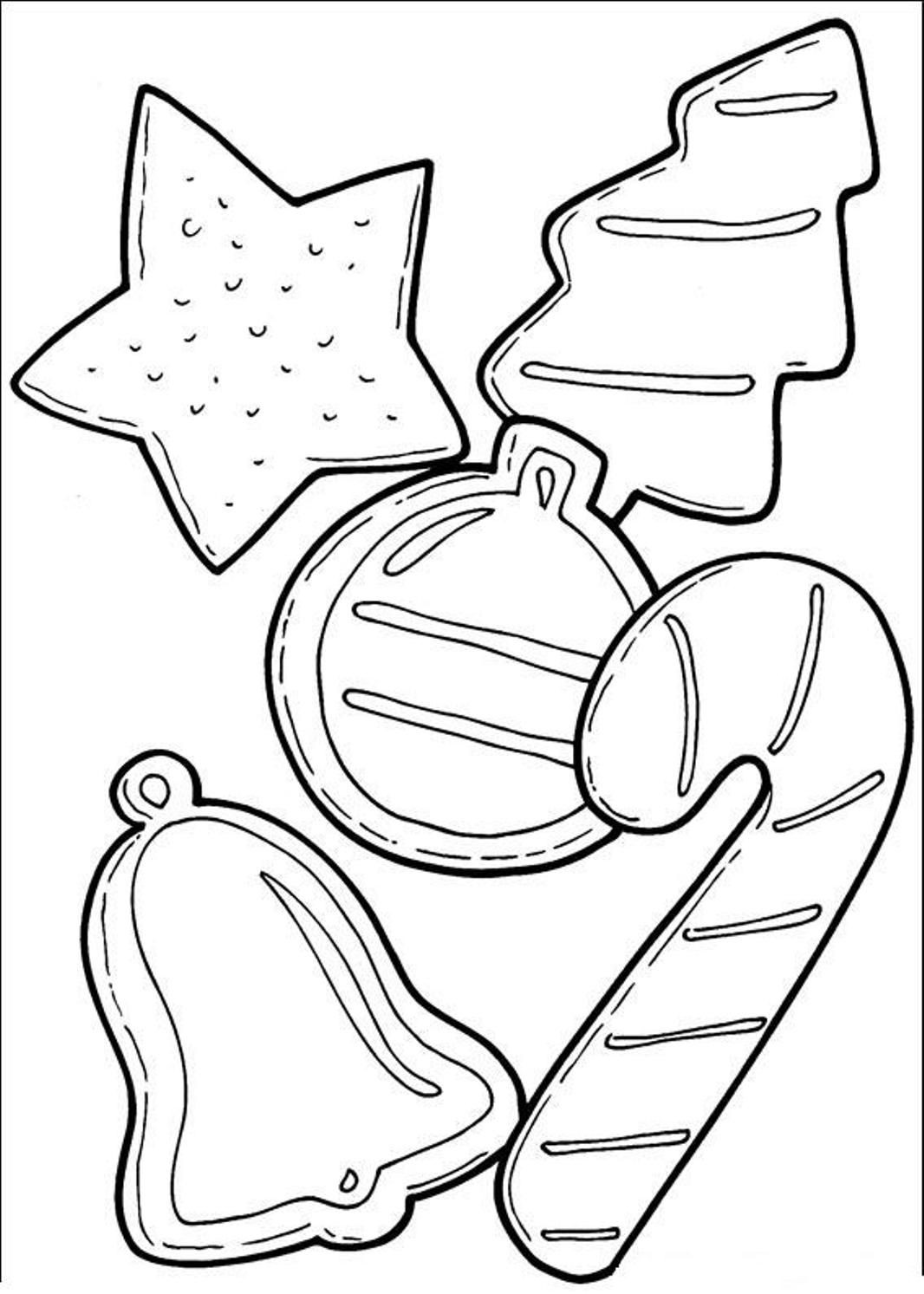 Christmas Cookies Coloring Pages  Cookies Coloring Page Coloring Home