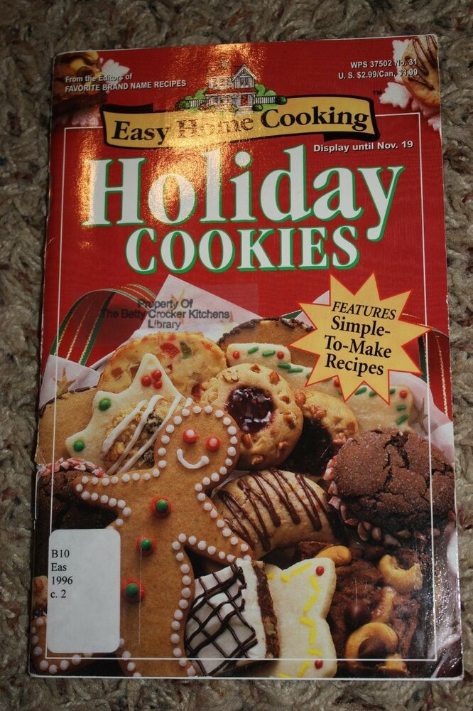 Christmas Cookies Cookbooks  Holiday Cookies Cookbook Easy Home Cooking Vol 1 No