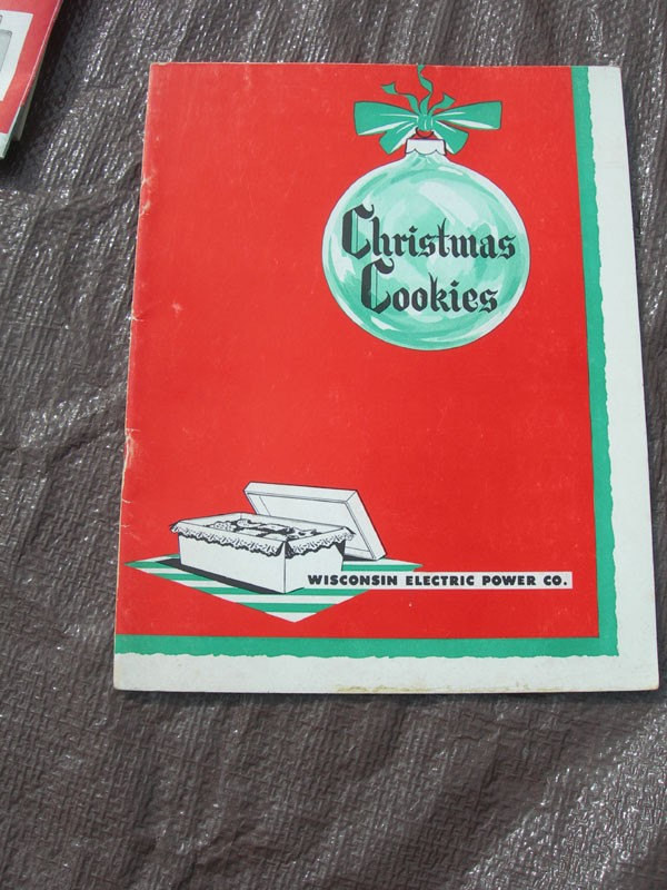 Christmas Cookies Cookbooks  Vintage Christmas Cookie Cookbook From Wisconsin Electric