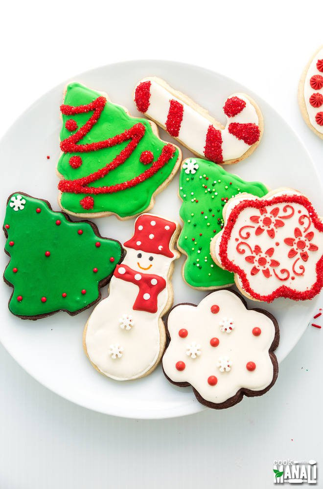 Christmas Cookies Decorated  Christmas Sugar Cookies Cook With Manali