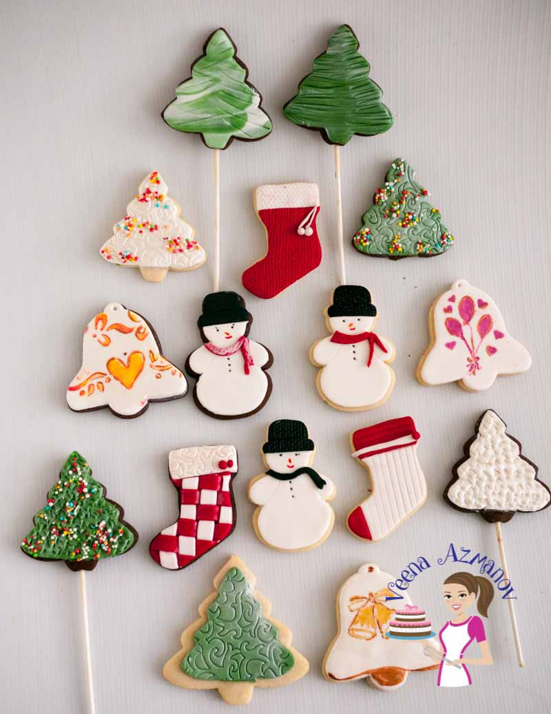 Christmas Cookies Decorated  Christmas Cookie Decorating with Fondant Tutorial Video