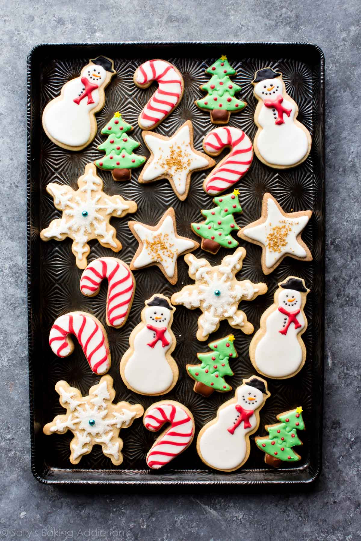 Christmas Cookies Decorated  1 Sugar Cookie Dough 5 Ways to Decorate Sallys Baking
