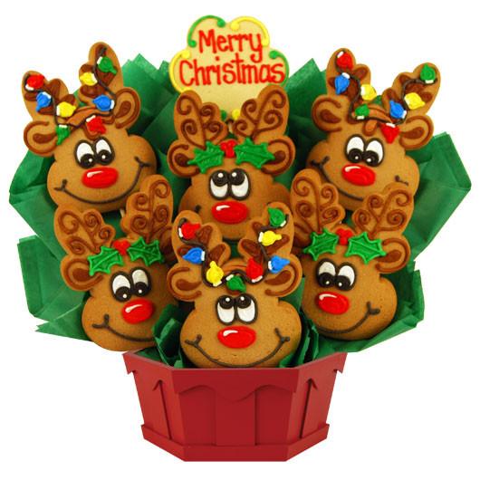 Christmas Cookies Delivered  Reindeer Cookies Reindeer Christmas Cookies