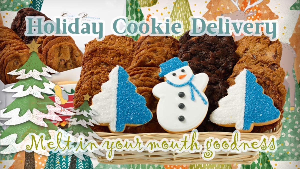 Christmas Cookies Delivered  Holiday Christmas Baskets