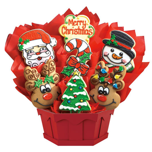 Christmas Cookies Delivered  Christmas Sugar Cookies Christmas Bouquets