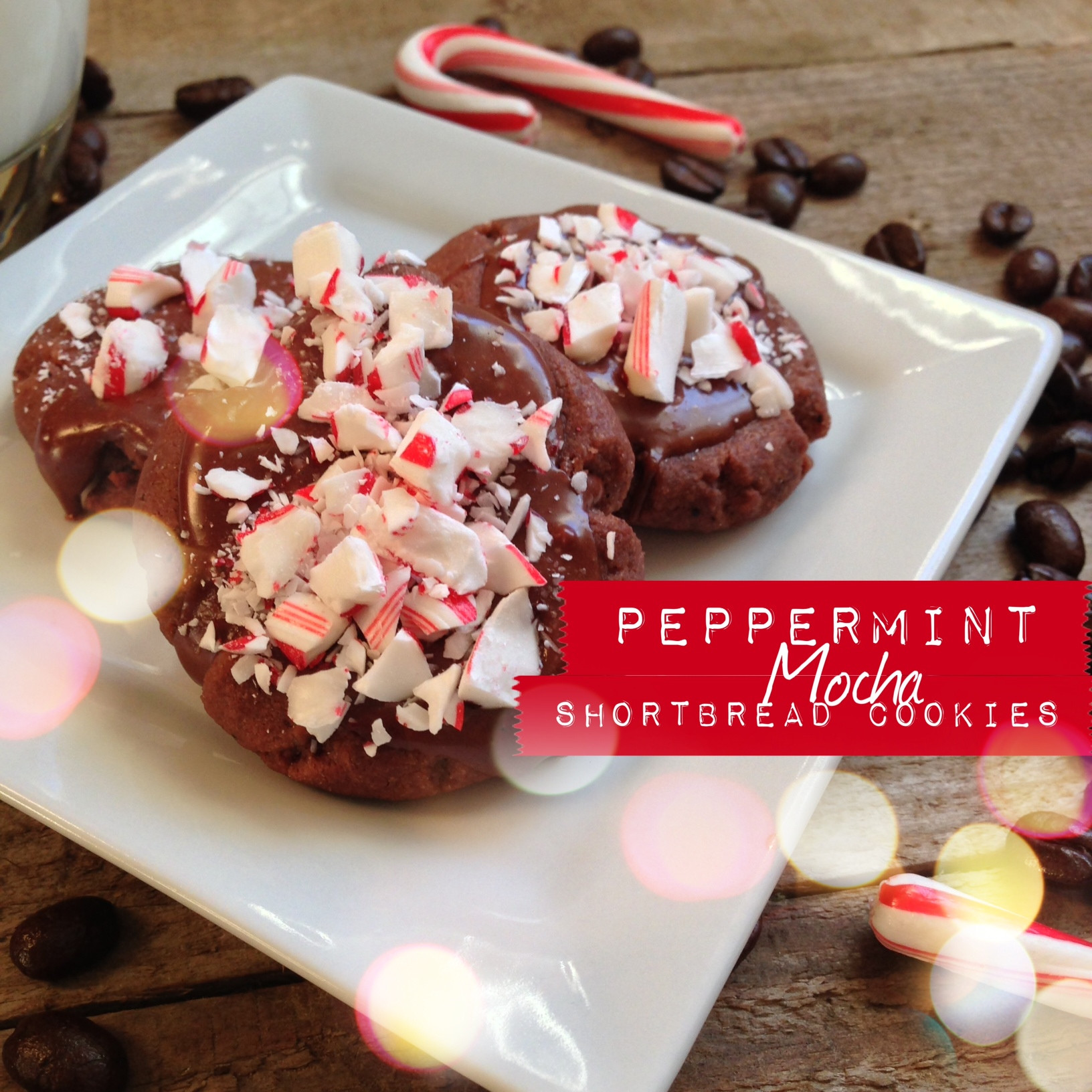 Christmas Cookies From Scratch  Peppermint Mocha Shortbread Cookies