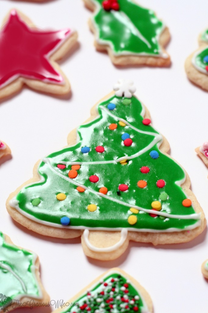 Christmas Cookies Frosting Recipes  Flooding with Royal Icing for Sugar Cookies Christmas