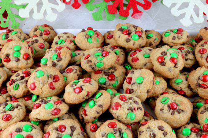 Christmas Cookies Image  Christmas M&M Mini Cookies Two Sisters