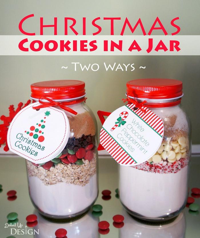 Christmas Cookies In A Jar  Christmas Cookies in a Jar DIY Gift Free Printables