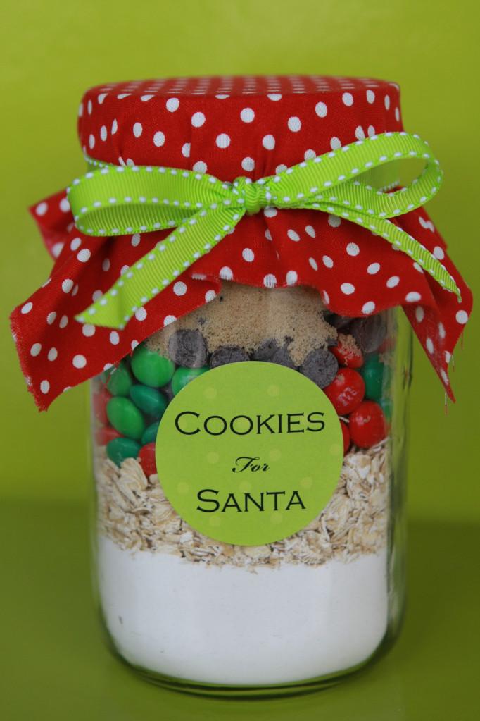 Christmas Cookies In A Jar  Cookies in a Jar for Santa