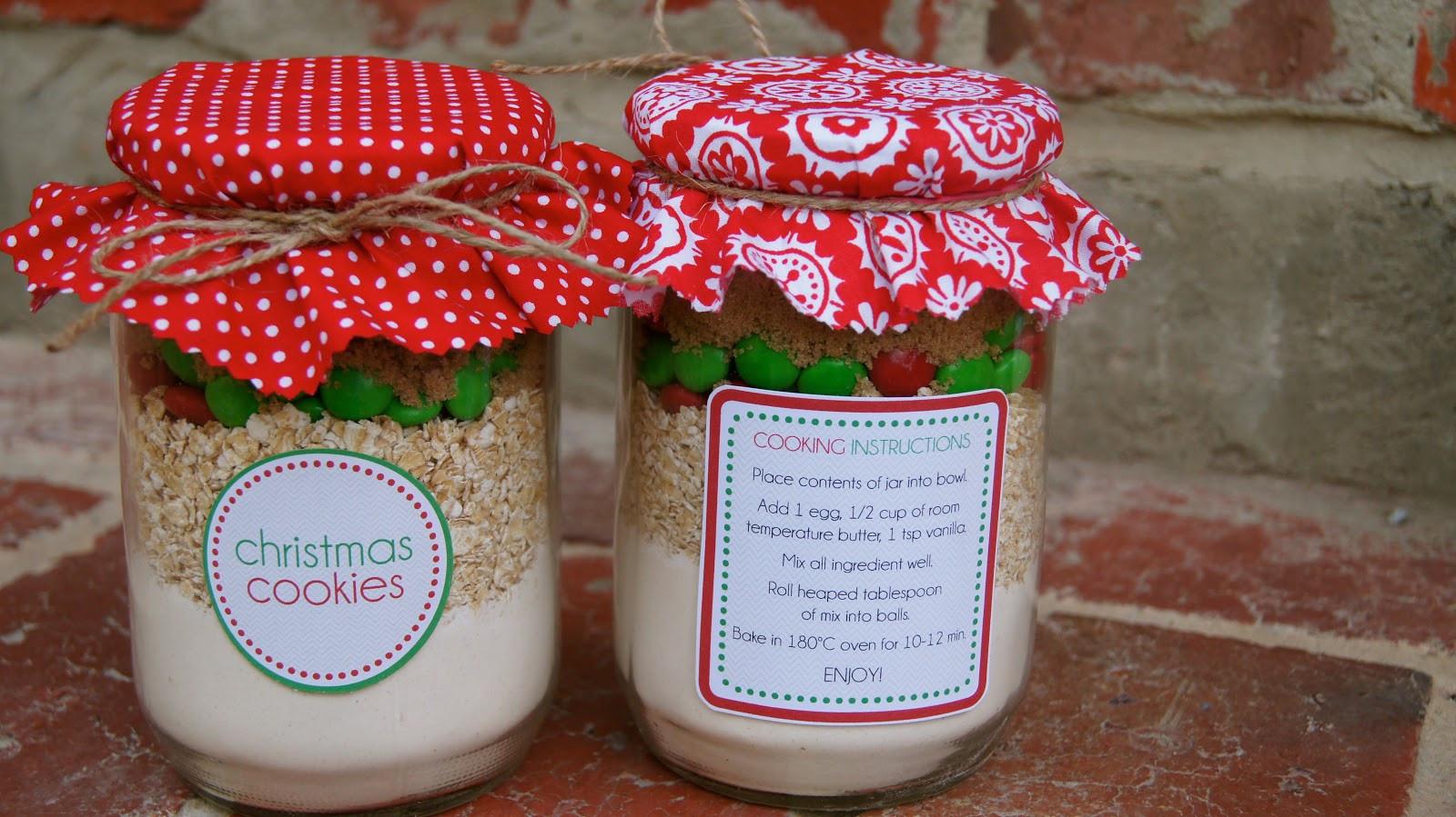 Christmas Cookies In Ajar  Christmas Cookies in a Jar