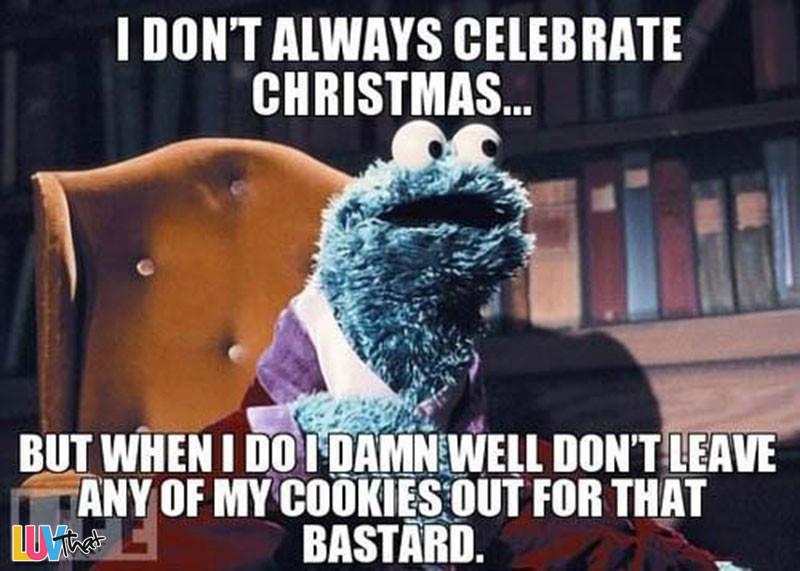 Christmas Cookies Meme  A Cookie Monster Christmas – LuvThat