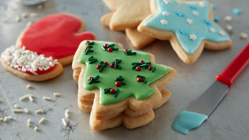 Christmas Cookies Pictures  Easy Christmas Sugar Cookie Cutouts Recipe BettyCrocker