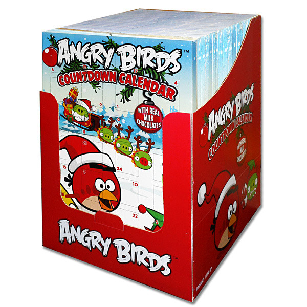 Christmas Countdown Calendar With Candy  Angry Birds Christmas Chocolate Countdown Calendar