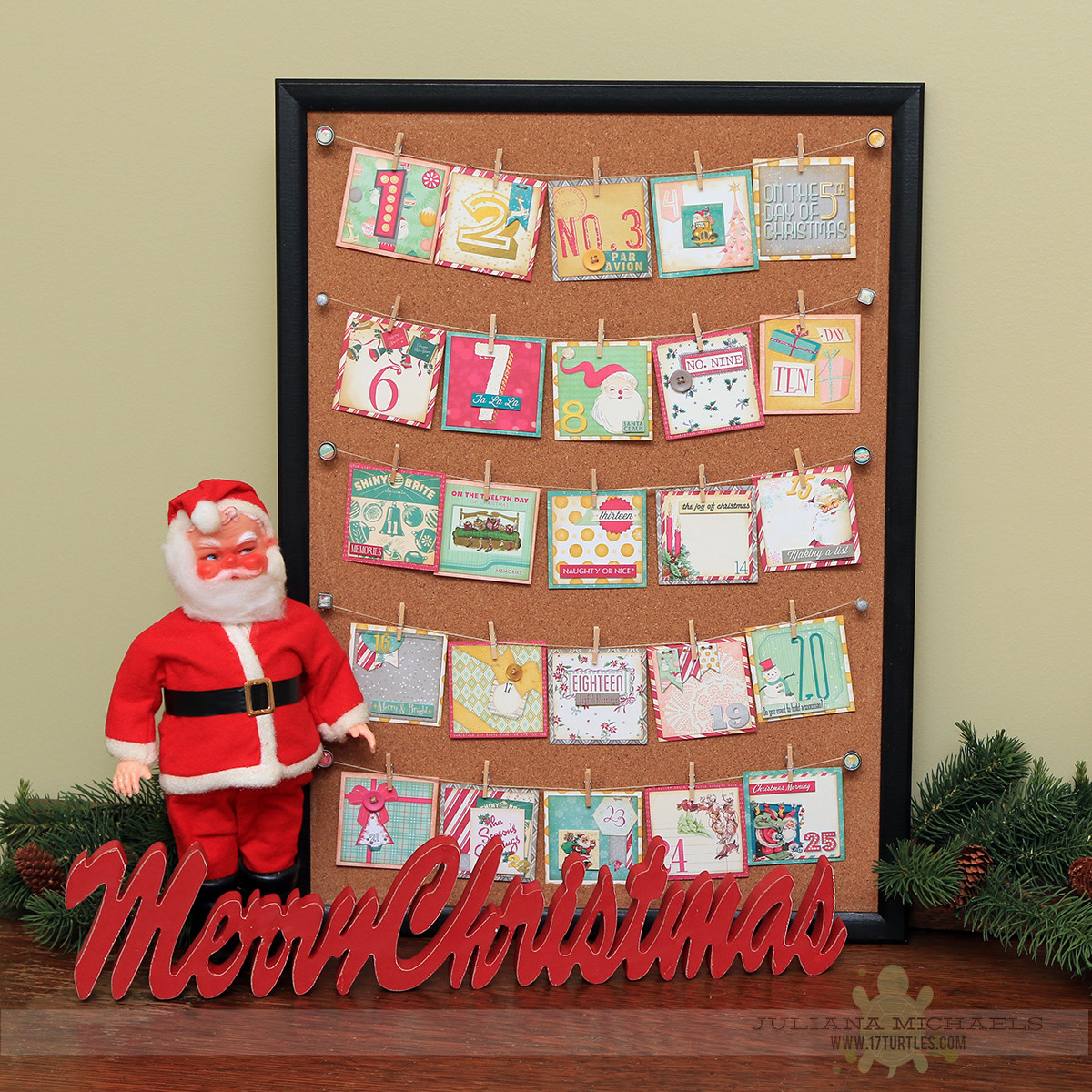 Christmas Countdown Calendar With Candy  Christmas Countdown Calendar